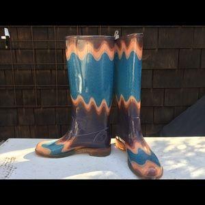 Missoni rain boots